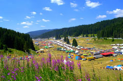Opinião colorida das montanhas de Rhodope, Bulgária Foto de Stock
