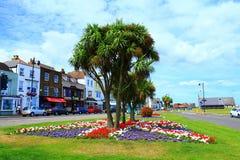 Opinião colorida Kent Reino Unido da rua da cidade de Walmer imagem de stock
