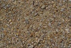 Opinião completa do quadro das areias e dos seixos fotos de stock