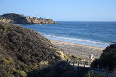 Opinião Crystal Cove State Park, Califórnia do sul imagem de stock