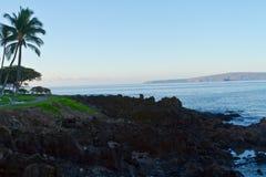 Opinião da água de Maui Fotos de Stock