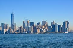 Opinião da água de New York City Fotos de Stock Royalty Free