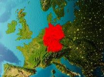 Opinião da órbita de Alemanha Imagens de Stock