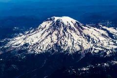 Opinião da alta altitude do Monte Rainier, Washington Fotografia de Stock Royalty Free