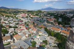Opinião da arquitetura da cidade de Akhaltsikhe imagens de stock