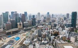 Opinião da arquitetura da cidade da metrópole de Osaka imagem de stock royalty free