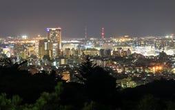 Opinião da arquitetura da cidade da noite de Kanazawa em Kanazawa Japão Fotos de Stock Royalty Free