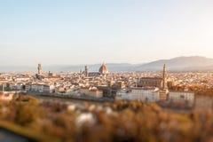 Opinião da arquitetura da cidade de Florença Fotos de Stock