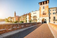 Opinião da arquitetura da cidade de Verona foto de stock royalty free