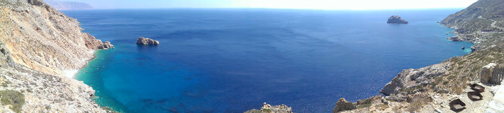 Opinião da baía de Agia Anna foto de stock