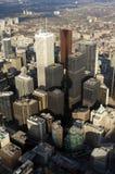 Opinião da baixa da torre da NC de Toronto Foto de Stock