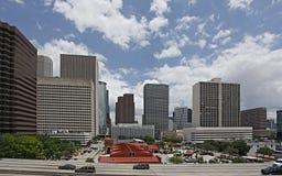 Opinião da baixa de Houston do sul fotos de stock