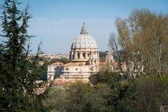 Opinião da basílica de St Peter de Trastevere Fotografia de Stock Royalty Free