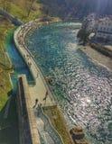 Opinião da beira do lago, Suíça de Berne Fotos de Stock