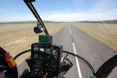 Opinião da cabina do piloto do helicóptero Fotografia de Stock