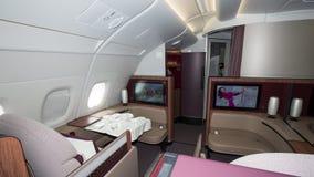 Opinião da cabine de Airbus A350 Fotografia de Stock