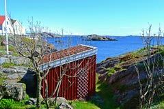 Opinião da casa da casa de campo no Mar do Norte Imagens de Stock Royalty Free