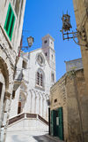 Opinião da catedral em Giovinazzo Oldtown Apulia Foto de Stock