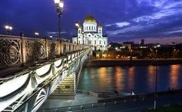 Opinião da catedral no crepúsculo Fotos de Stock Royalty Free