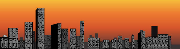 Opinião da cidade ilustração stock