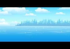 Opinião da cidade ilustração do vetor