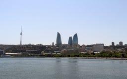 Opinião da cidade da frente marítima do porto Torres da chama imagens de stock royalty free