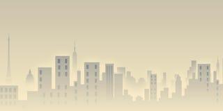 Opinião da cidade da manhã ilustração do vetor