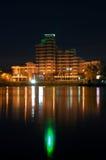 Opinião da cidade da noite Foto de Stock