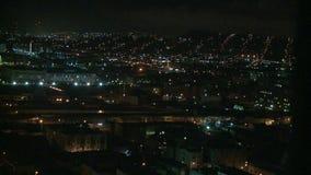 Opinião da cidade da noite - Los Angeles - lapso de tempo filme