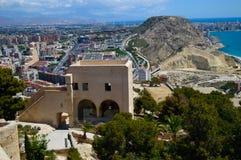 Opinião da cidade de Alicante Fotografia de Stock
