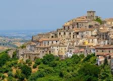 Opinião da cidade de Altomonte, Itália Foto de Stock