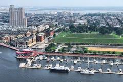Opinião da cidade de Baltimore imagens de stock