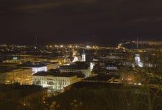 Opinião da cidade de Brno do castelo de Spilberk, a Europa Central - República Checa Fotos de Stock Royalty Free