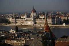 Opinião da cidade de Budapest em Budapest, Hungria, 2015 Imagem de Stock Royalty Free