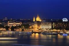 Opinião da cidade de Budapest em Budapest, Hungria, 2015 Imagens de Stock