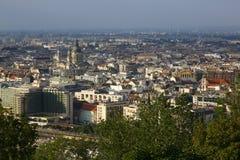Opinião da cidade de Budapest em Budapest, Hungria, 2015 Foto de Stock Royalty Free