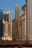 Opinião da cidade de Chicago foto de stock