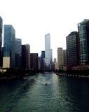 Opinião da cidade de Chicago Fotos de Stock Royalty Free