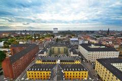 Opinião da cidade de Copenhaga foto de stock