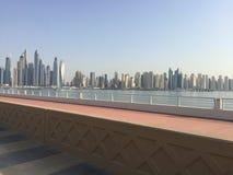 Opinião da cidade de Dubai foto de stock