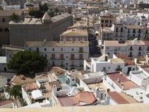Opinião da cidade de Eivissa foto de stock