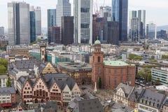 Opinião da cidade de Francoforte fotografia de stock