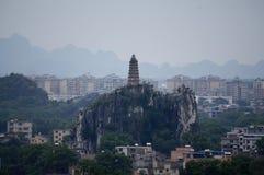 Opinião da cidade de Guilin Imagens de Stock Royalty Free