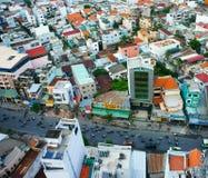 Opinião da cidade de Ho Chi Minh, urbano denso Fotografia de Stock Royalty Free
