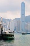 Opinião da cidade de Hong Kong Imagens de Stock