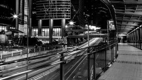 Opinião da cidade de Hong Kong em preto e branco Fotografia de Stock