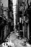 Opinião da cidade de Hong Kong em preto e branco Imagem de Stock Royalty Free