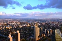 Opinião da cidade de Istambul em uma altura de 280 m Imagens de Stock Royalty Free