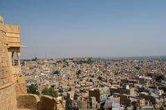 Opinião da cidade de Jaisalmer do forte Foto de Stock Royalty Free