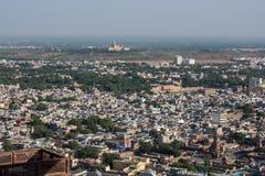 Opinião da cidade de Jodhpur do forte do mehrangarh Fotografia de Stock Royalty Free